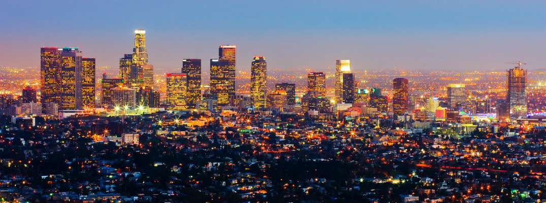 Skyline of Los Angeles, California