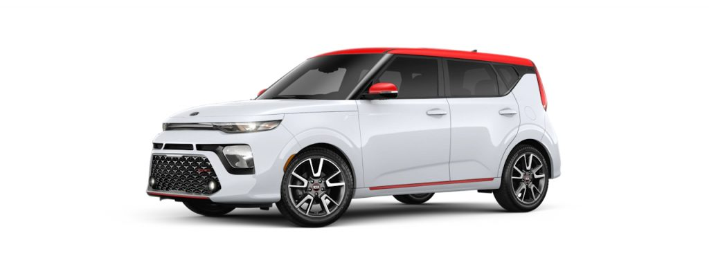 2020 Kia Soul Clear White-Inferno Red