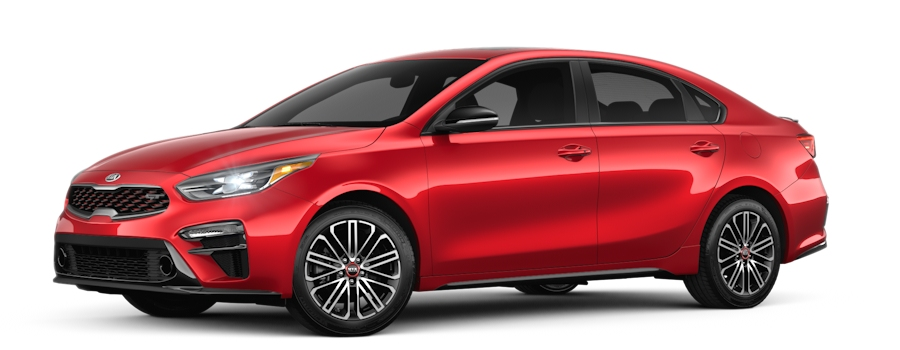 2020 Kia Forte Currant Red side view