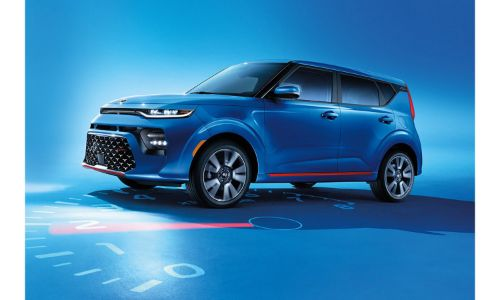 2021 Kia Soul 2020 model shown blue on top of odometer
