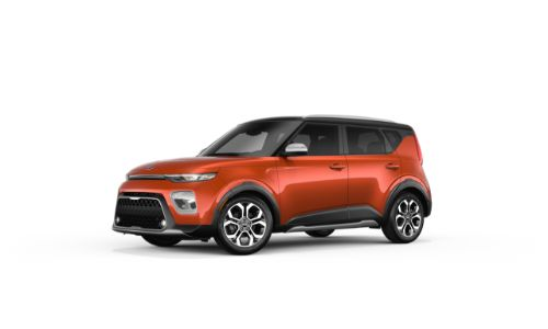 2021 Kia Soul Mars Orange and Cherry Black