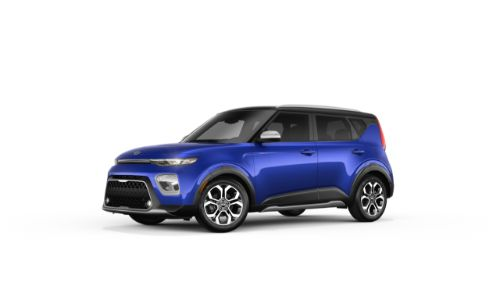 2021 Kia Soul Neptune Blue and Cherry Black
