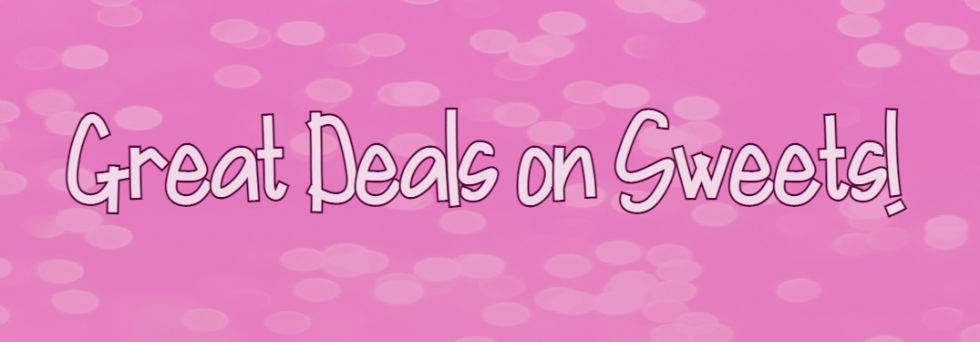 get great deals on sweets pink banner