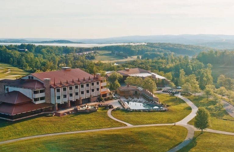 A view of premium accommodation at Nemacolin Woodlands Resort