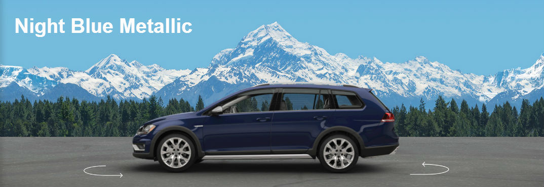 2017 Vw Golf Alltrack Off Road Wagon Color Options Night Blue Metallic Portland Or