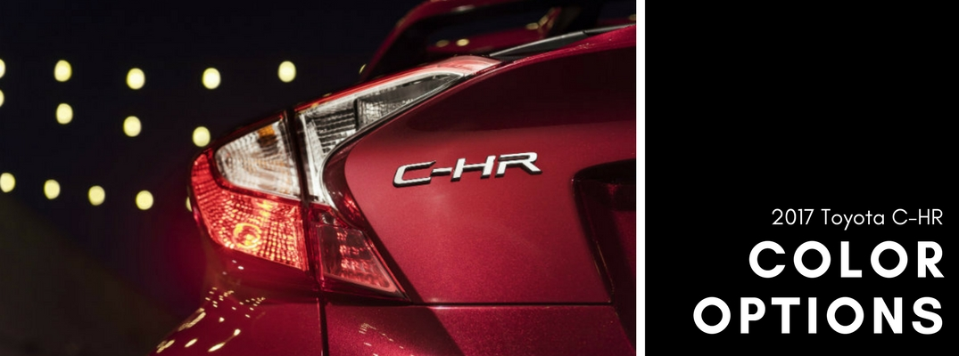 2018 Toyota C-HR color options