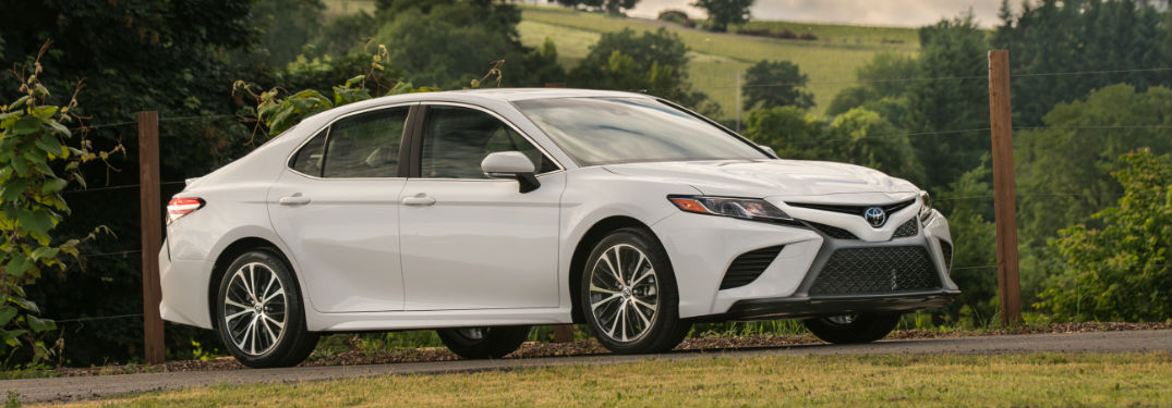 2018 Toyota Camry in white