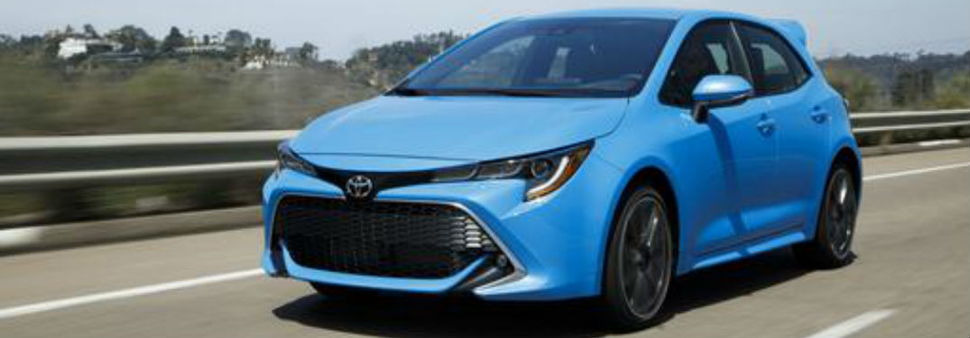 2019 Toyota Corolla Hatchback in blue