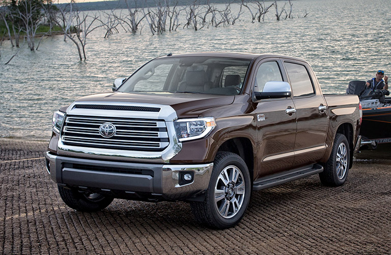 2019 Toyota Tundra In Gray By A Lake