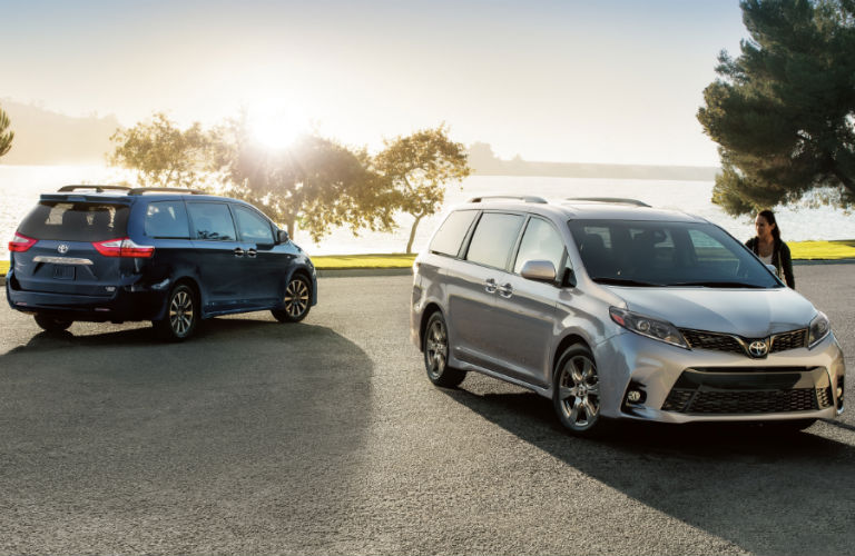 Two 2020 Toyota Sienna models