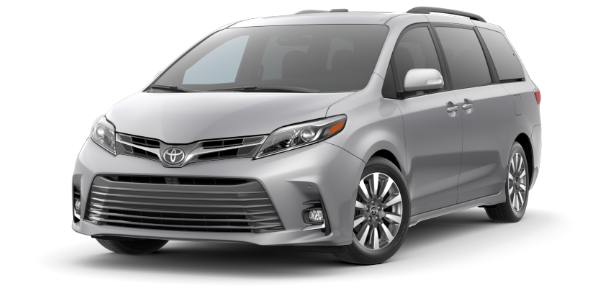 2020 Toyota Sienna Celestial Silver Metallic side front view
