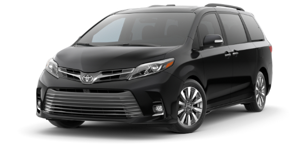 2020 Toyota Sienna Midnight Black Metallic side front view