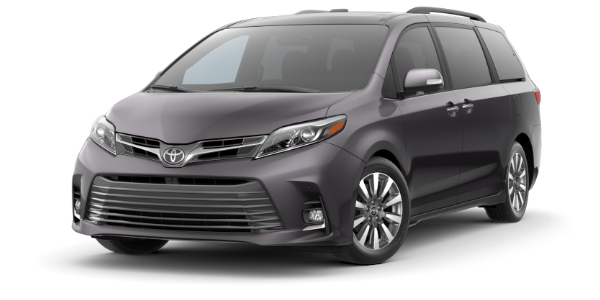 2020 Toyota Sienna Predawn Gray Mica side front view
