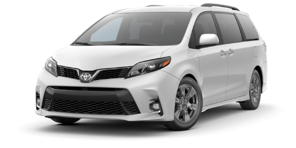 2020 Toyota Sienna Super White side front view