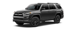 2019 Toyota 4Runner Nightshade Edition side view black