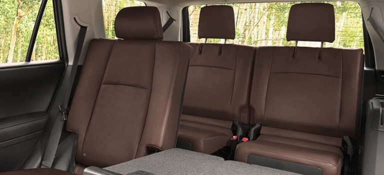 2019 Toyota 4Runner brown leather seats second and third row