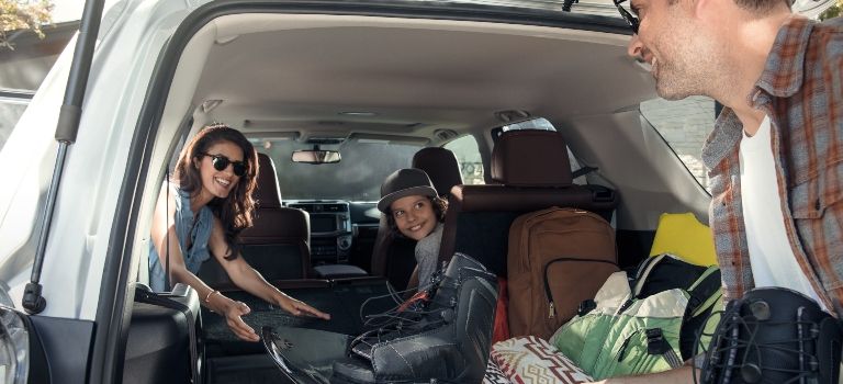 2019 Toyota 4Runner cargo area with a family