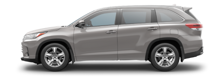 2019 Toyota Highlander Celestial Silver Metallic side side view