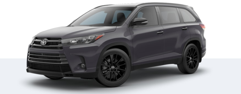 2019 Toyota Highlander Nightshade Edition side view Predawn Gray Mica