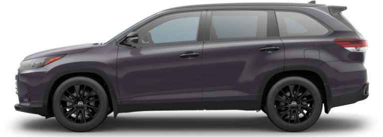 2019 Toyota Highlander Nightshade Edition side view gray black rims