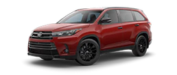 2019 Toyota Highlander Nightshade Edition side view red