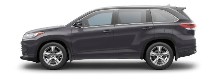 2019 Toyota Highlander Predawn Gray Mica side side view