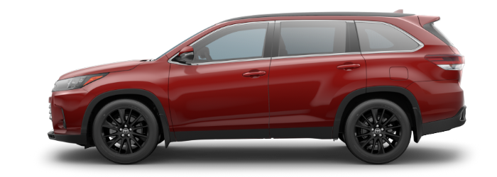 2019 Toyota Highlander Salsa Red Pearl side side view