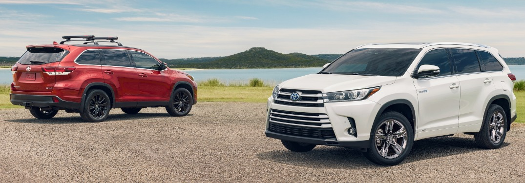 2019 Toyota Highlander exterior paint color options