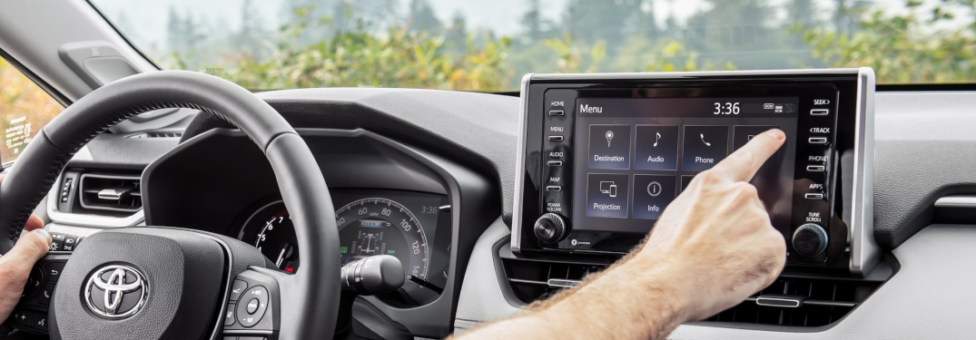 Audio listening options in the 2019 Toyota RAV4