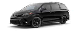 2020 Toyota Sienna Nightshade Edition side view black