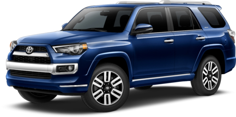 2019 Toyota 4Runner blue side front view