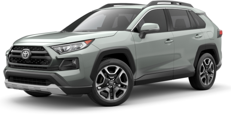 2019 Toyota RAV4 mint green side front view
