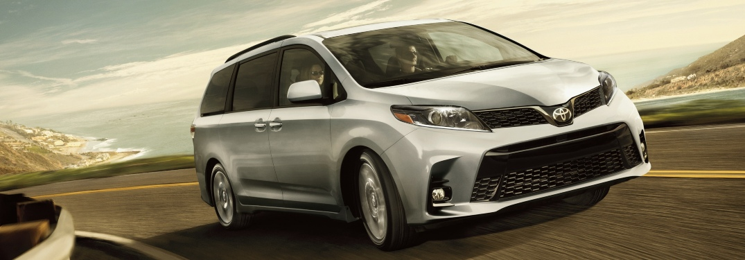 2020 Toyota Sienna silver front side view