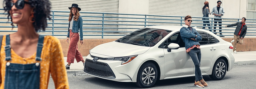 How far can the 2020 Corolla go on a tank of gas?