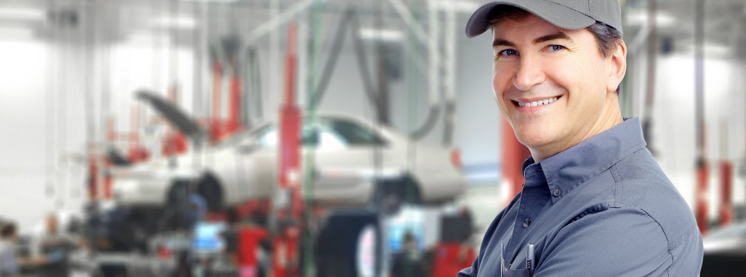 Mechanic in an auto service center