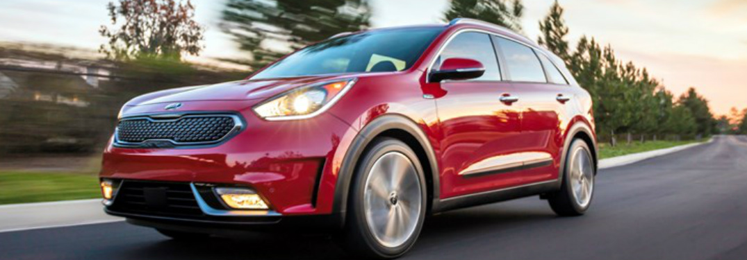 2018 Kia Niro exterior in red