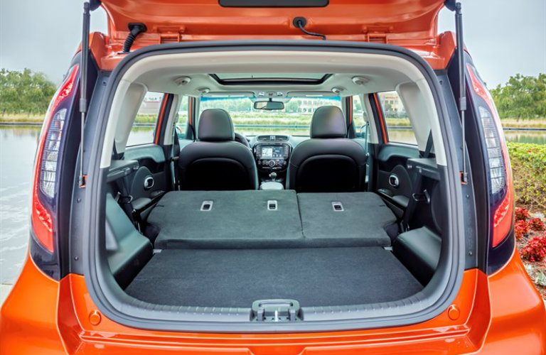 Cargo space of 2018 Kia Soul with collapsed seats