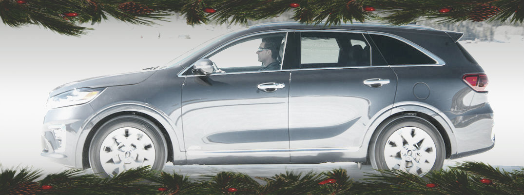 Holiday-themed image of the 2019 Kia Sorento