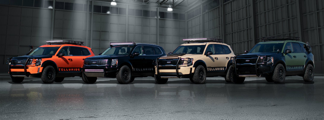 Kia Telluride models custom painted by Theresa Contreras