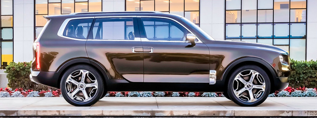 Side profile of 2020 Kia Telluride