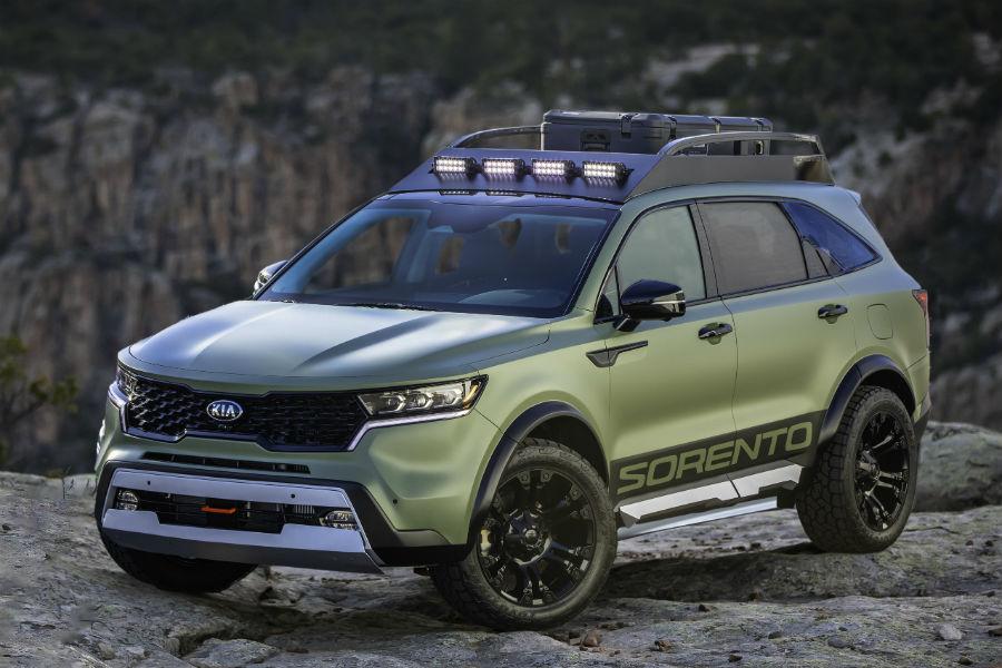 2021 Kia Sorento Yosemite Edition Exterior Driver Side Front Profile