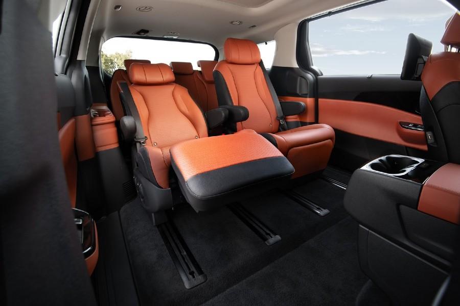 2022 Kia Carnival Interior Cabin Rear Seating Reclined