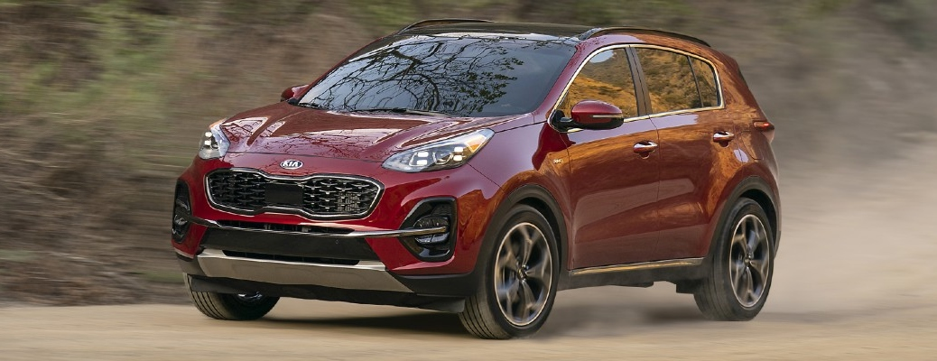 2021 Kia Sportage going down the road