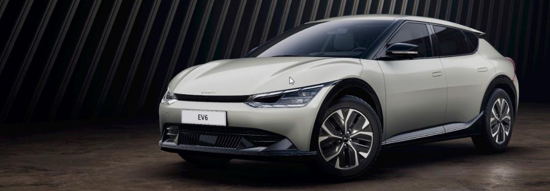 2022 Kia EV6 parked in a plain surface