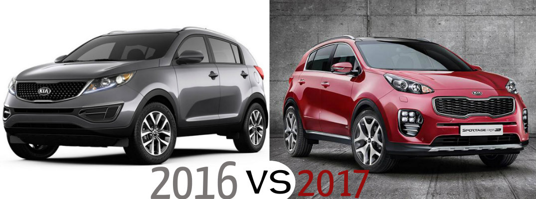 2016 kia sportage vs 2017 kia sportage. Black Bedroom Furniture Sets. Home Design Ideas