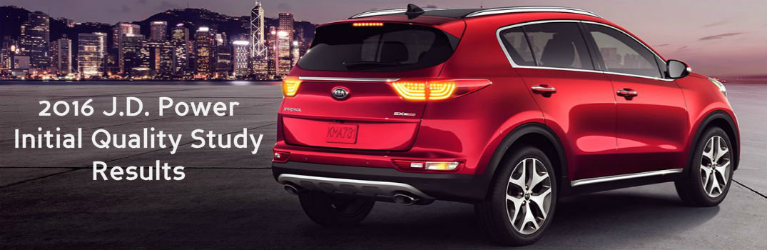What automotive brand is ranked number one for initial quality? Kia