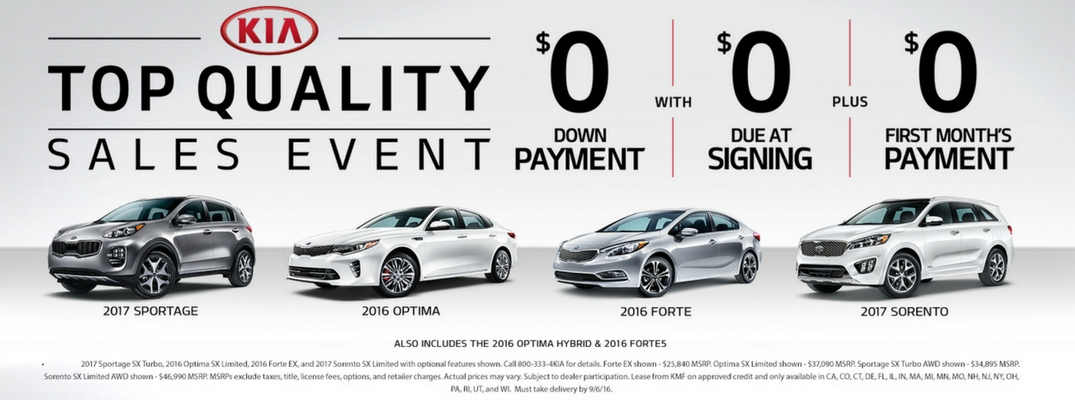 Kia Top Quality Sales Event in Quakertown, PA