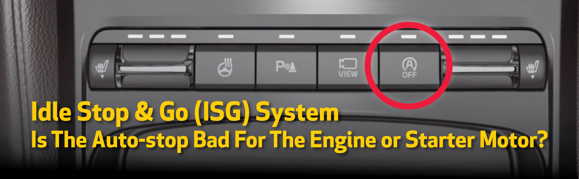 Stop And Go Auto >> Is The Auto Stop Bad For The Engine Or Starter Motor Kia
