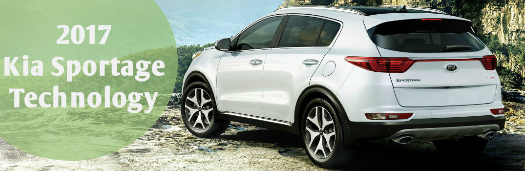What technology features does the 2017 Kia Sportage have?