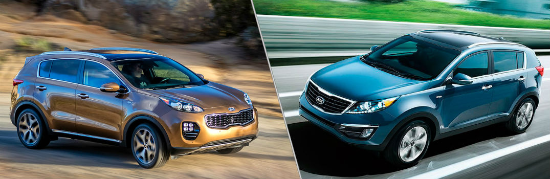 How does the 2017 Kia Sportage compare to the 2016 Kia Sportage?